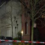Farbe gegen Wohnhaus von Olaf Scholz und Polizeicontainer angefackelt