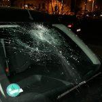 Auto von Daniel Sebbin (IB) beschädigt