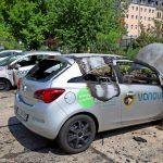 Vier Vonovia-Fahrzeuge abgefackelt