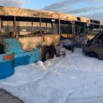 Fahrzeuge der AfD abgefackelt