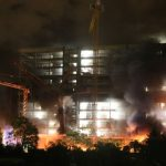 Feuer auf Großbaustelle der CG-Gruppe