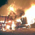 Wahlkampf-Lkw der AfD abgebrannt