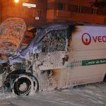 Veolia-Transporter angezündet