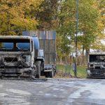 Baumaschinen bei VSTR GmbH und Hentschke Bau angezündet