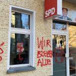 Sachbeschädigungen an drei SPD-Büros