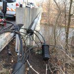 Brandanschläge auf Kabel an zwei Brücken