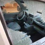 Auto der GdP demoliert