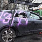 Auto von Immobilien-Anwalt zerstört