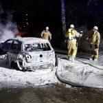Auto einer Polizistin abgefackelt