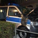 Polizeiwagen angezündet