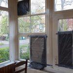 Steine gegen Haus der Burschenschaft Germania