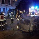 Auto von Dussmann Sicherheitsdienst abgefackelt