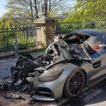 Luxus-Mercedes abgebrannt