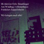 Farbe gegen Wohnhaus von Felix Straubinger (IB)