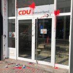Farbbeutel gegen CDU-Büro