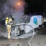 Vonovia-Transporter angezündet, Steine gegen Sparkasse, Graffiti an SPD-Büro