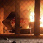 Strabag Firmenfahrzeug in Brand gesetzt