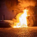 Vonovia-Transporter ausgebrannt