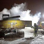 Bagger auf Baustelle der Gröner-Group angezündet