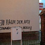 Sprüherreien nach AfD-Parteitag