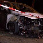 Ziviles Polizeiauto abgefackelt