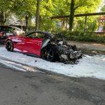 Ferrari abgefackelt