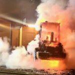 Baustelle von Luxusapartments mit Feuer angegriffen