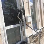 Bitumen gegen AfD-Büro