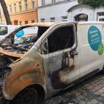 Zwei Vonovia-Firmenautos abgefackelt