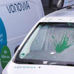 Sechs Vonovia-Transporter beschädigt